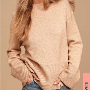 Lulu's Loving the Cozy Life bell sleeve sweater
